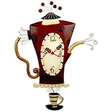 themed wall clock coffee themed wall clocks to liven up the kitchen