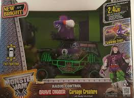 monster jam grave digger remote control truck monster jam grave digger carnage creature with moving arms radio