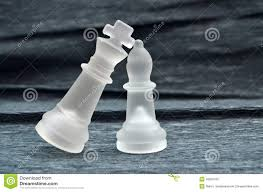 glass chess pieces king and queen stock photo image 45835152