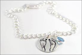 personalized sterling silver jewelry personalized baby bracelet real baby footprints jewelry