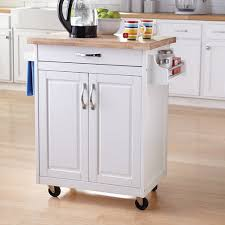 small kitchen cabinets walmart mainstays kitchen cart with drawer spice rack towel bar butcher block top white