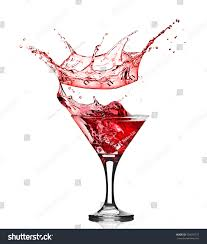 red martini drink splash pouring martini into glass stock photo 108556775 shutterstock