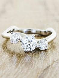 stone rings design images Aurora 3 stone sculptural 3 stone diamond ring ken dana design jpg