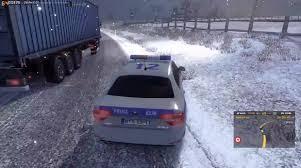 mod car game euro truck simulator 2 ets2mp december 2015 winter mod police car video euro truck