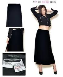 black maxi skirt high waisted cut out women clothing 90s clothing