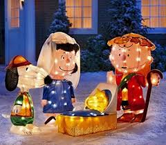 Outdoor Christmas Decorations Peanuts by Amazon Com Christmas 4 Pc Peanuts Gang Gel Light 3d Christmas