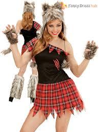 ladies werewolf costume wolf lady halloween fancy dress