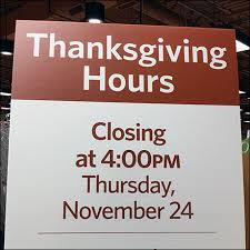 retail hours for thanksgiving fixtures up
