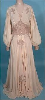 wedding peignoir sets c 1930 s 40 s peignoir bridal honeymoon set of blush sheer crepe