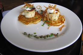 cuisine priest photo crab cakes and boxty from the whiskey priest boston ma