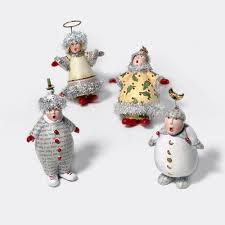 carolers ornaments set of 4 krinkles by patience brewster