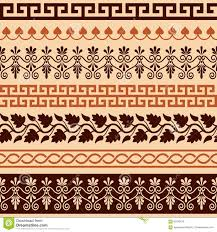 ancient greek pattern seamless set of antique borders from