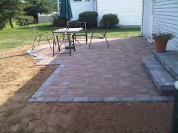 Patio Paver Ideas by Pavers Patio With A Semi Circle Bump Out And Pavers Steps