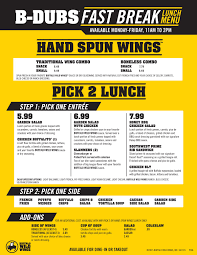 buffalo wild wings lunch menu business insider