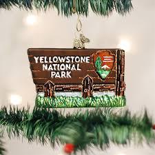 yellowstone national park ornament world