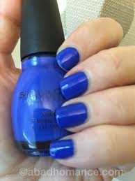 what u0027s on my nails sinful colors endless blue a bad homance