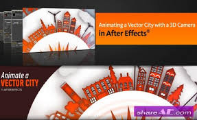 animating a vector city with a 3d camera in after effects cs6