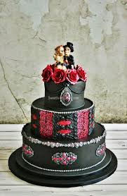 Halloween Wedding Cake by Boda Rockera Buscar Con Google Pasteles Goticos Pinterest