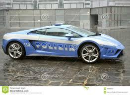 police lamborghini huracan lamborghini luxury police car in florence italy editorial