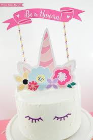 unicorn cake topper unicorn cake topper printable press print party
