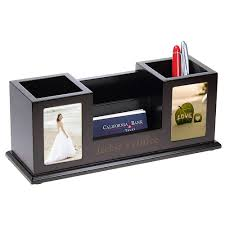 Desk Pencil Holder Personalized Desk Accessories Card Holders Gifts By Hansonellis