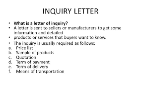an inquiry letter manager billybullock us
