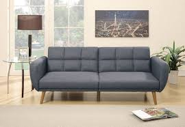 convertible sofa f6853 blue gray convertible sofa bed by poundex