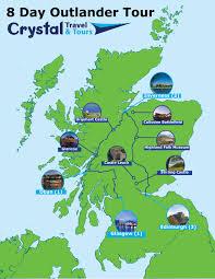 Road Map Of Scotland 8 Day Outlander Tour Of Scotland