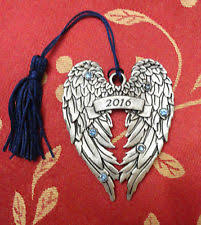 avon 2016 pewter wings ornament boxed ebay