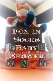 hello sweet cheer fox in socks baby shower