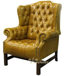 Leather Chesterfield Armchair Chesterfield Churchill High Back Wing Chair Uk Manufactured