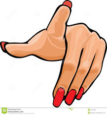 hand pointing woman