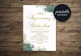 wedding anniversary invitation 50th anniversary invitation