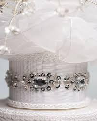 alluring crystal spray cake topper with swarovski crystal