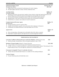 resources assistant resume