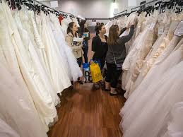 Wedding Dresses For Sale Something Old Brides Turn To Second Hand Decor Dresses To Cut
