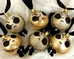 unique ornament related items etsy skellington
