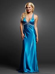 elegant ice blue low v neck and floor length skirt evening