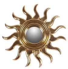 Mirror Wall Decor by Decorating Round Gold Sunburst Mirror For Pretty Wall Decoration