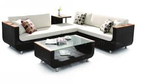 Round Sectional Patio Furniture - black modern patio sectional sofa w coffee table