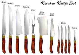 names of kitchen knives kitchen exquisite kitchen knife set with their names best