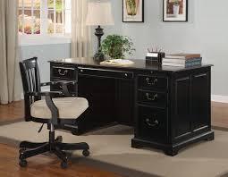 Black Desk Office Black Executive Desk And Chair 12 Modern Black Executive Desk