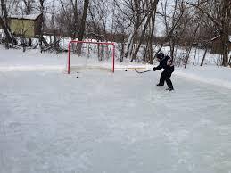 backyard ice hockey skating rink position map business