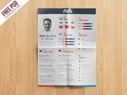 creative resume template free creative resume cv template free psd psdfreebies