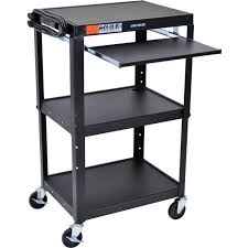 multimedia cart with locking cabinet audio visual carts b h photo video