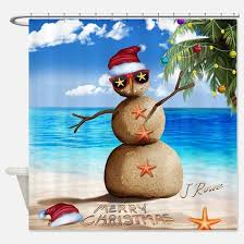 Snowman Curtains Kitchen Beach Snowman Shower Curtains Beach Snowman Fabric Shower
