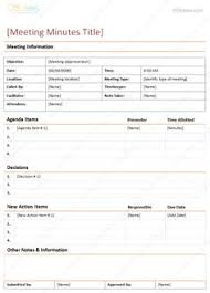 effective meeting templates my meeting pro app for simple