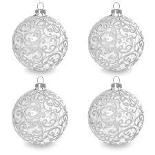sikora christbaumkugeln aus glas mit klassischer verzierung