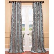 Aqua And Grey Curtains Exclusive Fabrics Ivory Faux Silk Surrey Jacquard Curtain Panel