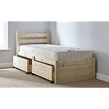 single 3ft wooden storage pine bed frame can be used by adults